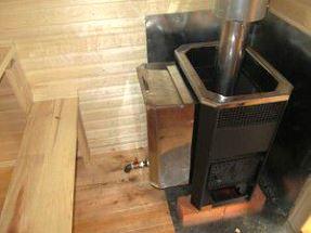 Банная дровяная печь