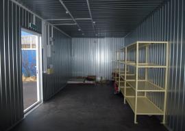 Мобильный склад пожинвентаря - стеллажи