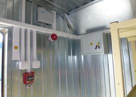 Пожаро-охранная сигнализация в мобильном складе
