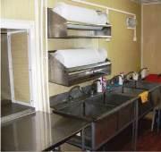 Мобильное здание столовая, моечная для посуды