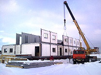 Assembling of Prefabricated Self Supported Panel (SSP) Building