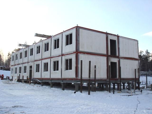 быстровозводимое здание на базе самонесущих панелей